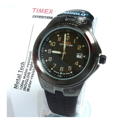 b94c65ab1 Filgifts.com: Expedition Metal Tech Brown Leather Watch for Men (T49631) by Timex  Watches - Send timepieces gifts
