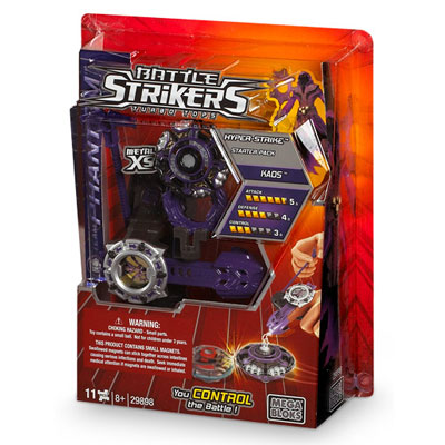 Filgifts.com: Battle Strikers Launcher- Metal XS Manual (7MBI-29898) by  Mega Bloks - Send toys and game gifts