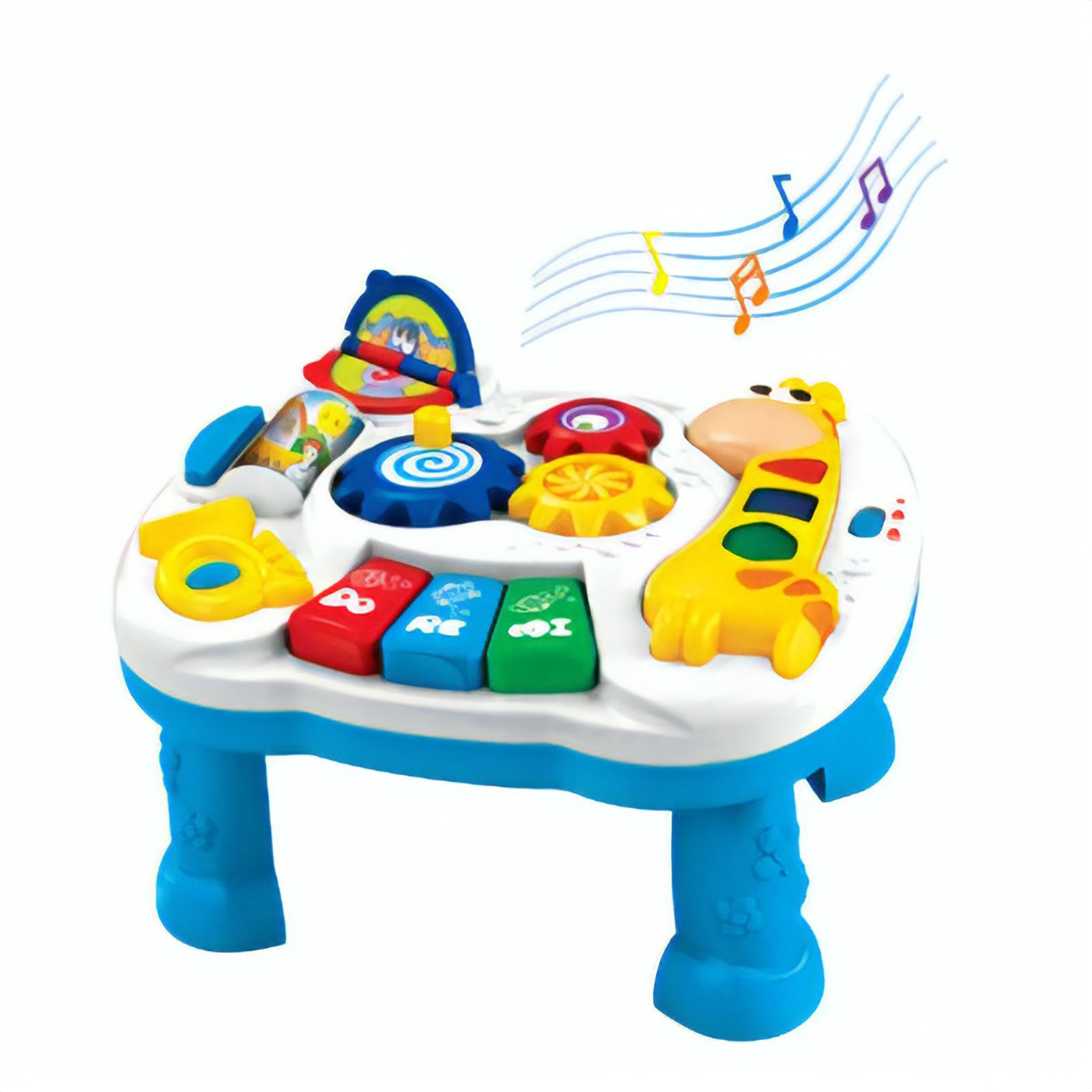 Filgifts.com: Baby Bliss Musical Activity Table (BLR 688) By Cool Kids    Send Infant And KidStuff Gifts