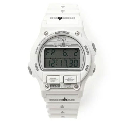 d7c0eb03dc345 Filgifts.com  Timex Indiglo Chrono Ironman 8 Lap Unisex Watch- White  (TW5M05600) by Timex Watches - Send timepieces gifts
